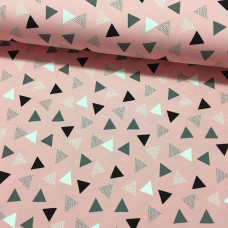 Triangles rosa Stretchjersey