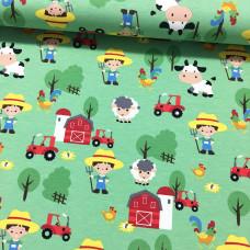 Bauernhof grün Stretchjersey