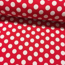 Softshell Punkte auf rot