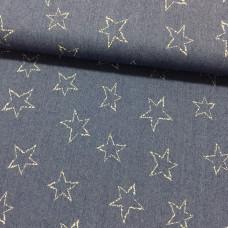 Stretchjeans Sterne dunkelblau