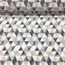 Triangles blau Stretchsweat