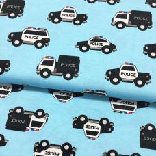 Police Cars blau Stretchjersey