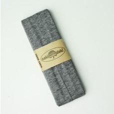 3 m Jersey Schrägband grau meliert