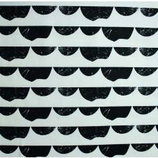 Baumwoll Köper schwarz-weiß