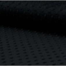 Minky Fleece schwarz 75 cm Reststück