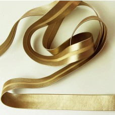 Metallic Schrägband Lederimitat Gold