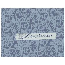 Loveletters rauchblau Summersweat Lillestoff 55 cm Reststück