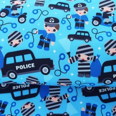 Softshell Police blau