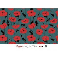 Poppies petrol, Modal Lillestoff