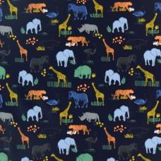 Regenjackenstoff Safari dunkelblau