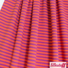 Ringel orange / lila Bio-Stretchjersey