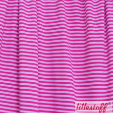 Ringel rosa / himbeer Bio-Stretchjersey