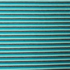 Ringel hellblau-türkis-grau Stretchjersey