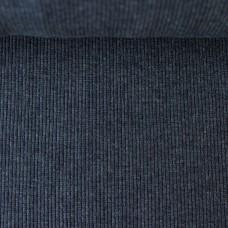 Rippbündchen dunkelblau meliert