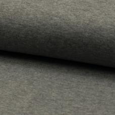Bündchen glatt grau meliert