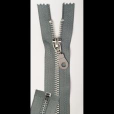 Metall-Reißverschluß 80 cm grau