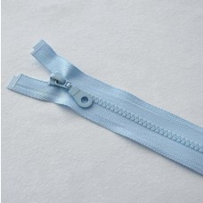 Reißverschluß teilbar 60 cm hellblau