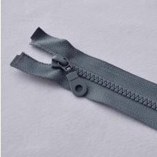 Reißverschluß teilbar 30 cm mittelgrau