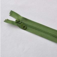 Reißverschluß teilbar 90 cm olivgrün