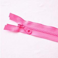 Reißverschluß teilbar 75 cm rosa
