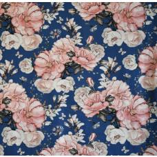 """Jersey """"Matti"""" Blumen blau 35 cm Reststück"""