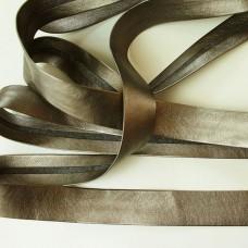 Metallic Schrägband Lederimitat Bronze