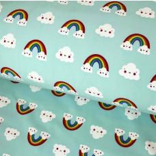 Softshell Rainbow mint 55 cm Reststück