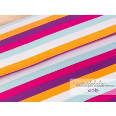 "Widestripes Sweat ""Viola"" 60 cm Reststück"