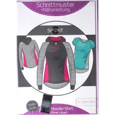 Sport - Hoodie + Shirt Damen