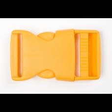 Steckschnalle 25 mm gelb
