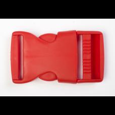 Steckschnalle 25 mm rot