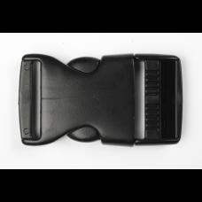 Steckschnalle 25 mm schwarz