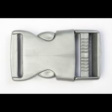 Steckschnalle 25 mm silber