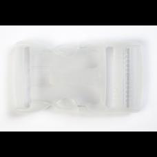 Steckschnalle 25 mm transparent