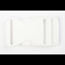 Steckschnalle 25 mm weiß
