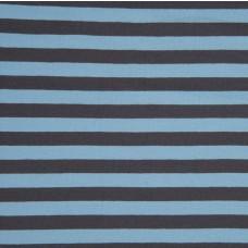 Streifen blau-grau Stretchjersey 80 cm Reststück