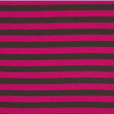 Streifen pink-grau Stretchjersey