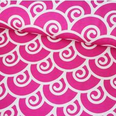 Swirl pink Stretchjersey