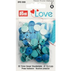 Prym Love Color Snaps mint-türkis-blau