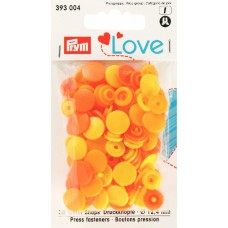 Prym Love Color Snaps zitronengelb-gelb-orange