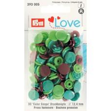 Prym Love Color Snaps grün-smaragd-braun