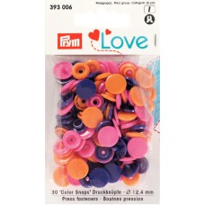 Prym Love Color Snaps orange-pink-lila