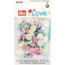 Prym Love Color Snaps rosa-hellblau-creme