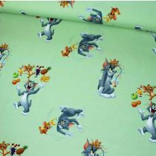 Tom & Jerry grün Stretchjersey