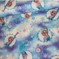 Elsa Eiskristalle Baumwoll Webstoff