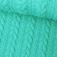 Zopfstrick Jacquard smaragd